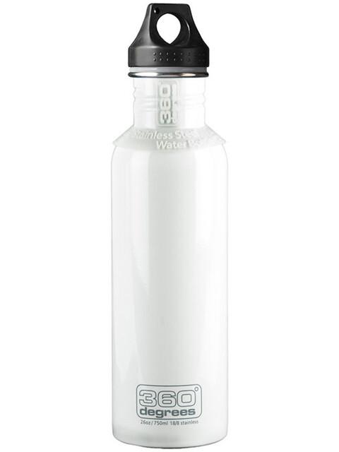 360° degrees Stainless Drink Bottle 750ml White